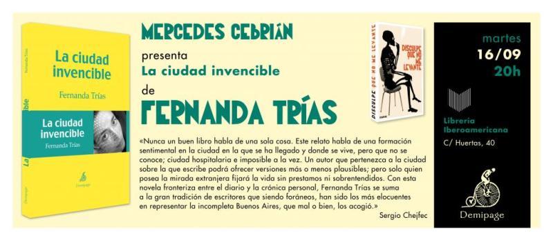 Fernanda Trías en Iberoamericana