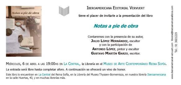Invitacion Julio López Reina Sofía (1)
